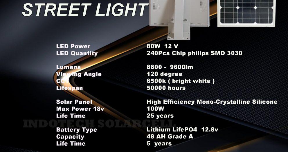 PJU Solarcell All In One 80 Watt