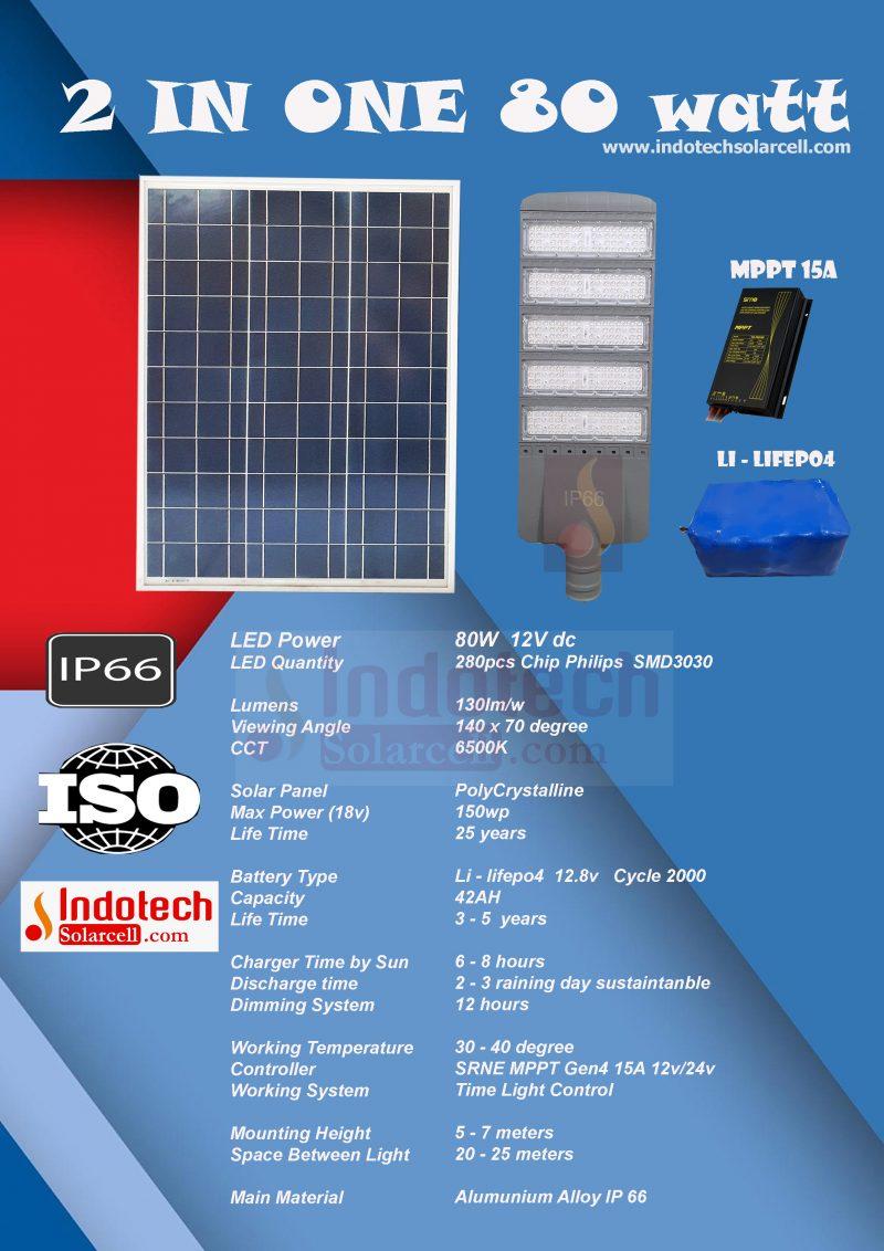 pju solar cell, panel surya jakarta, pju 2 in one mppt, lampu tenaga surya 2 in one, pju 2 in one 80 watt, pju 80 watt, lampu pju 2 in one 80 watt, panel surya 80 watt, lampu pju all in one