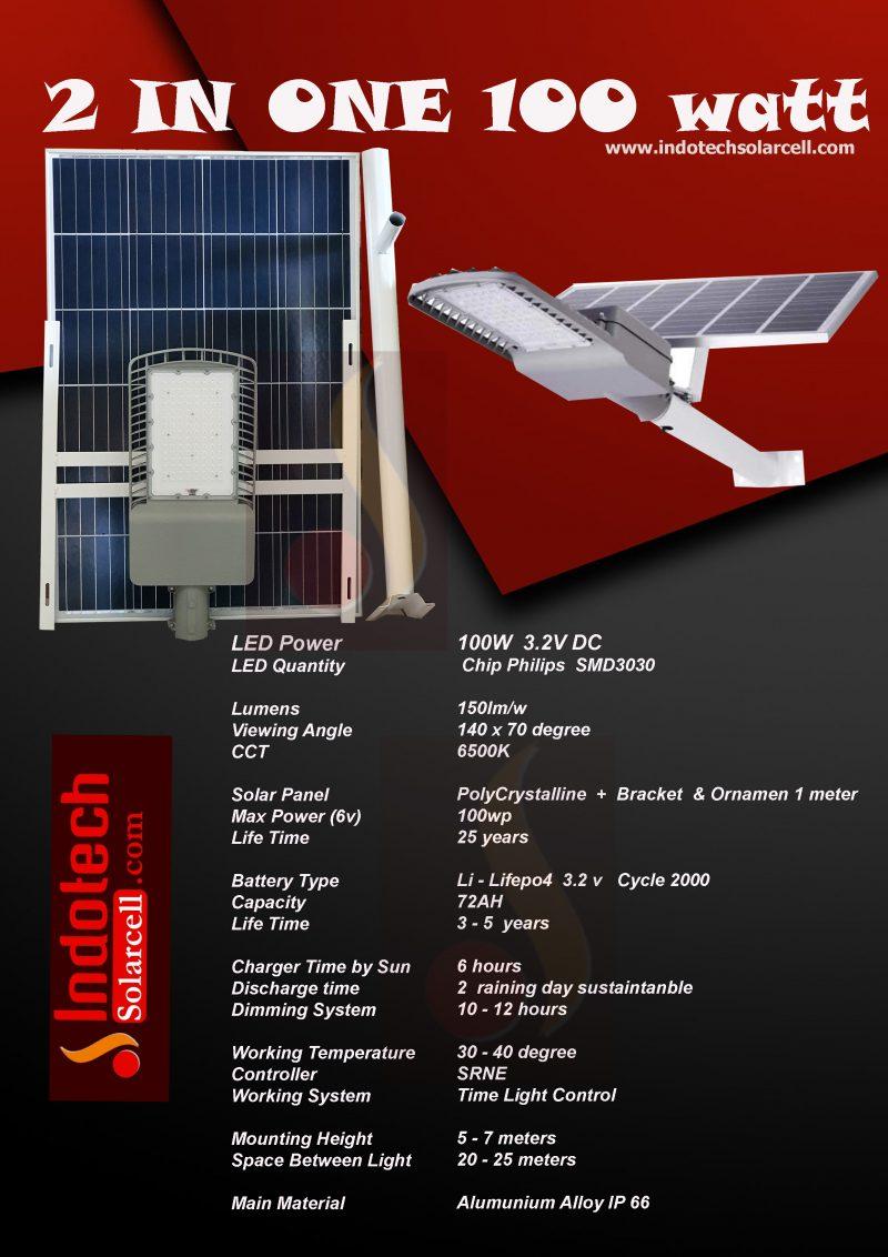 PJU Solar Cell 100 Watt