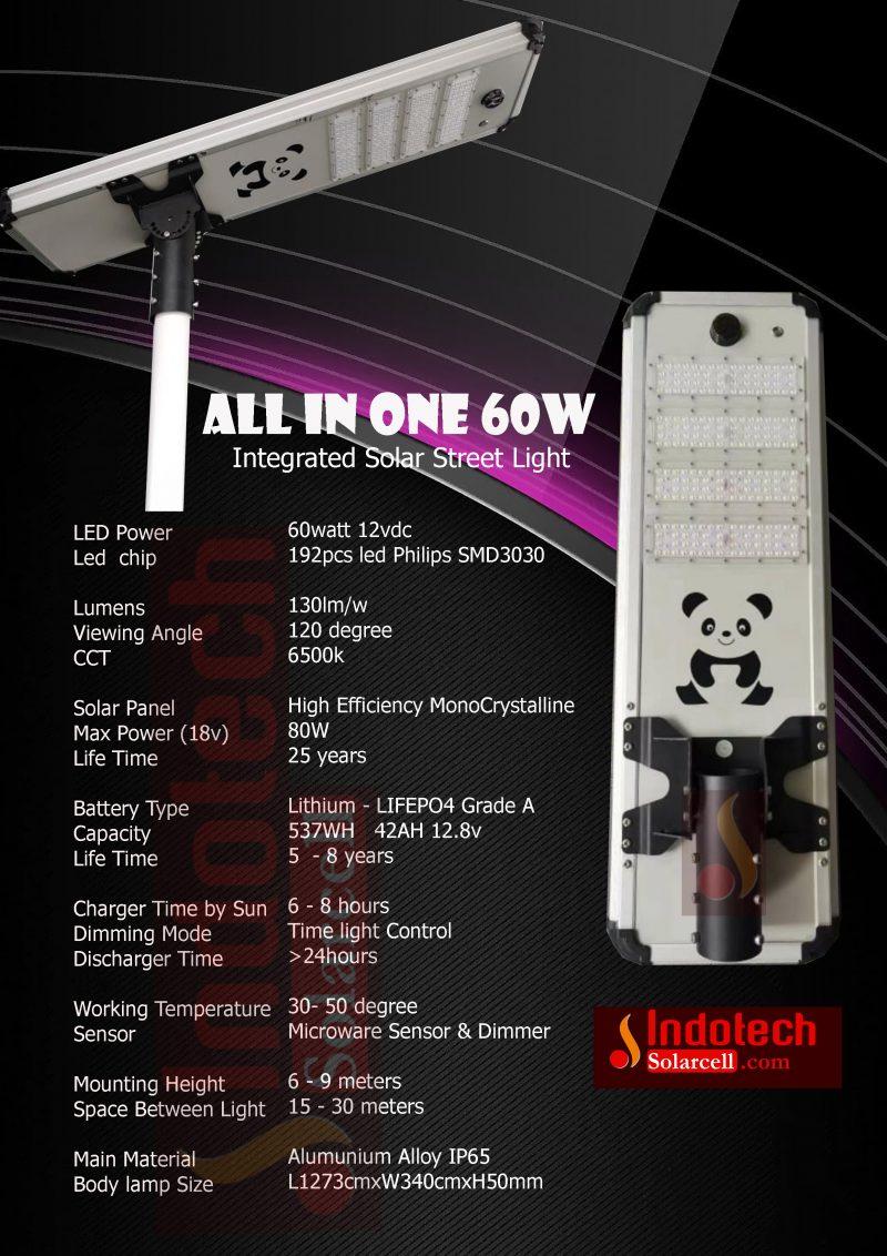 PJU Solar Cell 60 Watt